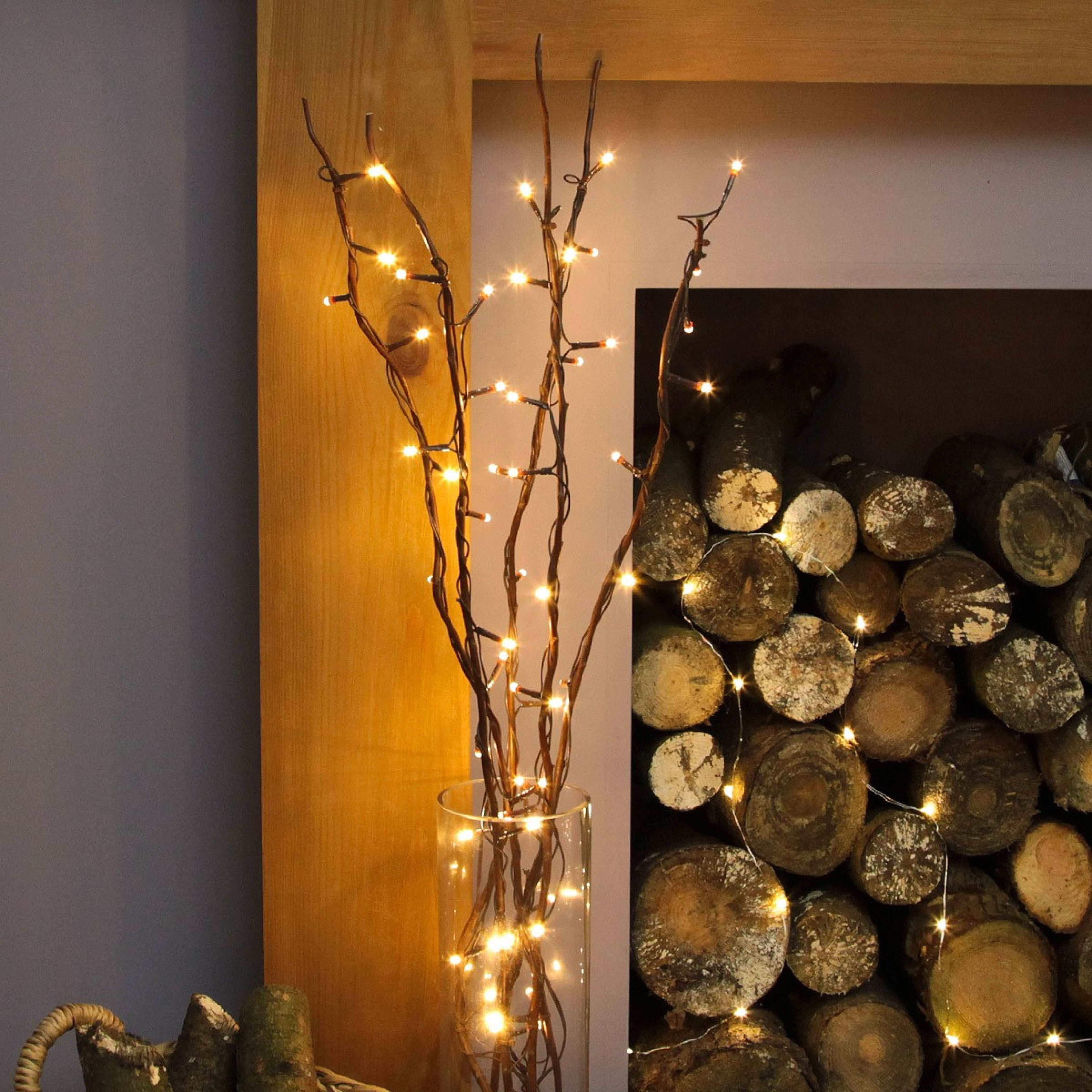 ... 5 decorative brown willow twig lights, 50 warm white leds ... MGKYOFN