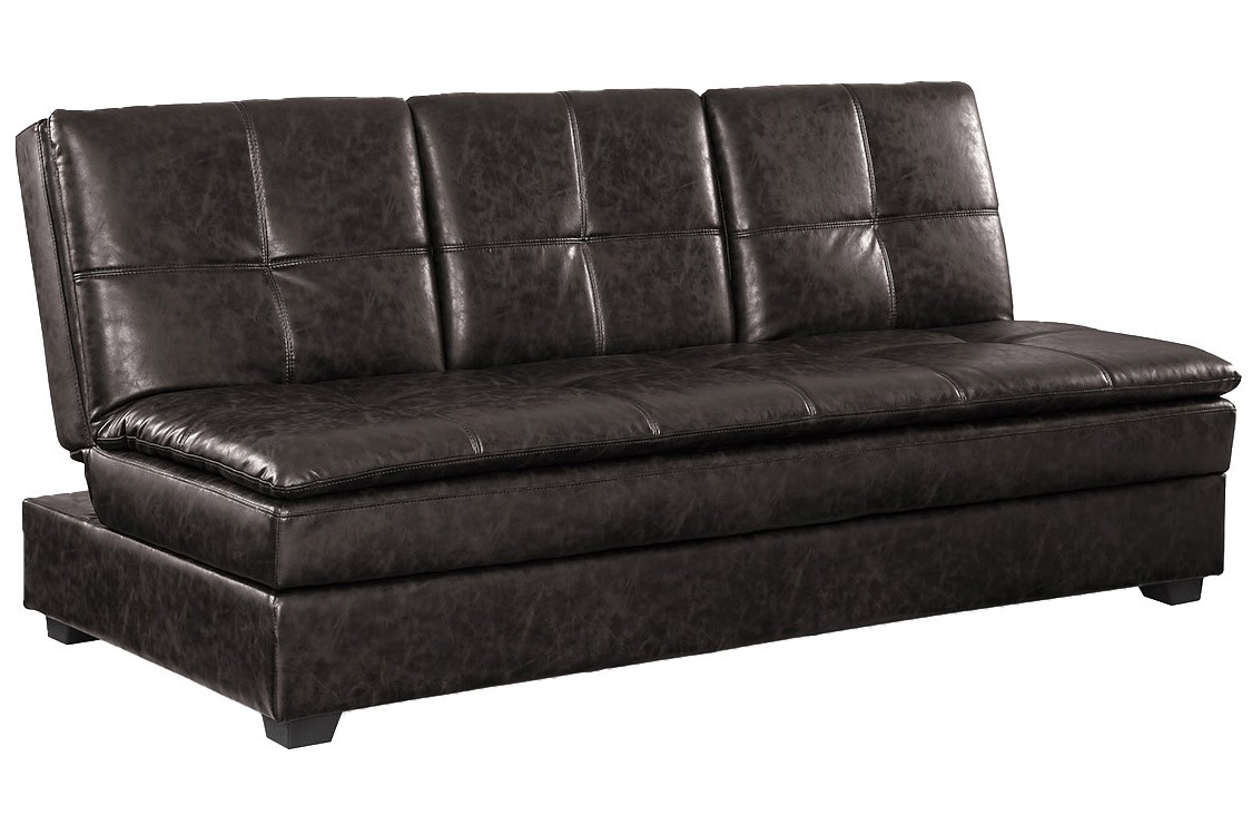 ... brown leather convertible sofa bed ... ICULZGO
