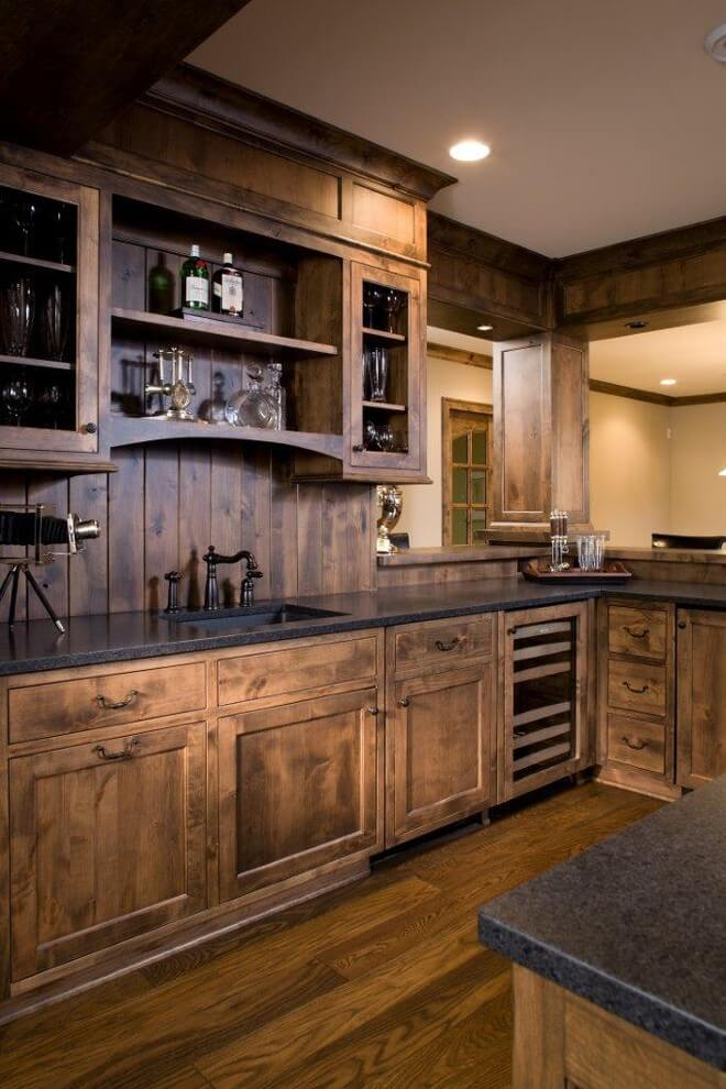 ... creative design rustic kitchen cabinets 2 cabin in the wood paneled KSTXINO