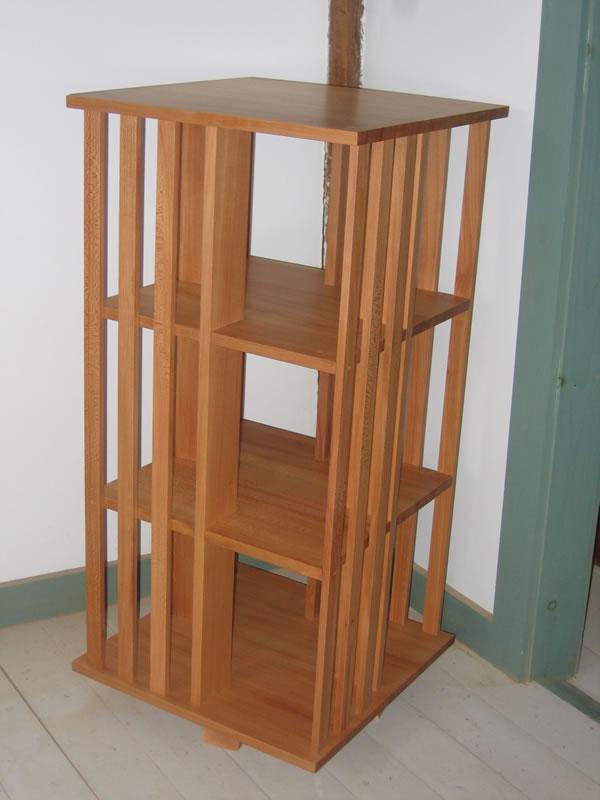 ... custom quartersawn sycamore revolving bookcase ... EOWJCLX