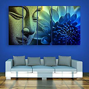 ... inephos multiple frames buddha beautiful wall painting (150cm x 76cm) KNMSEQG