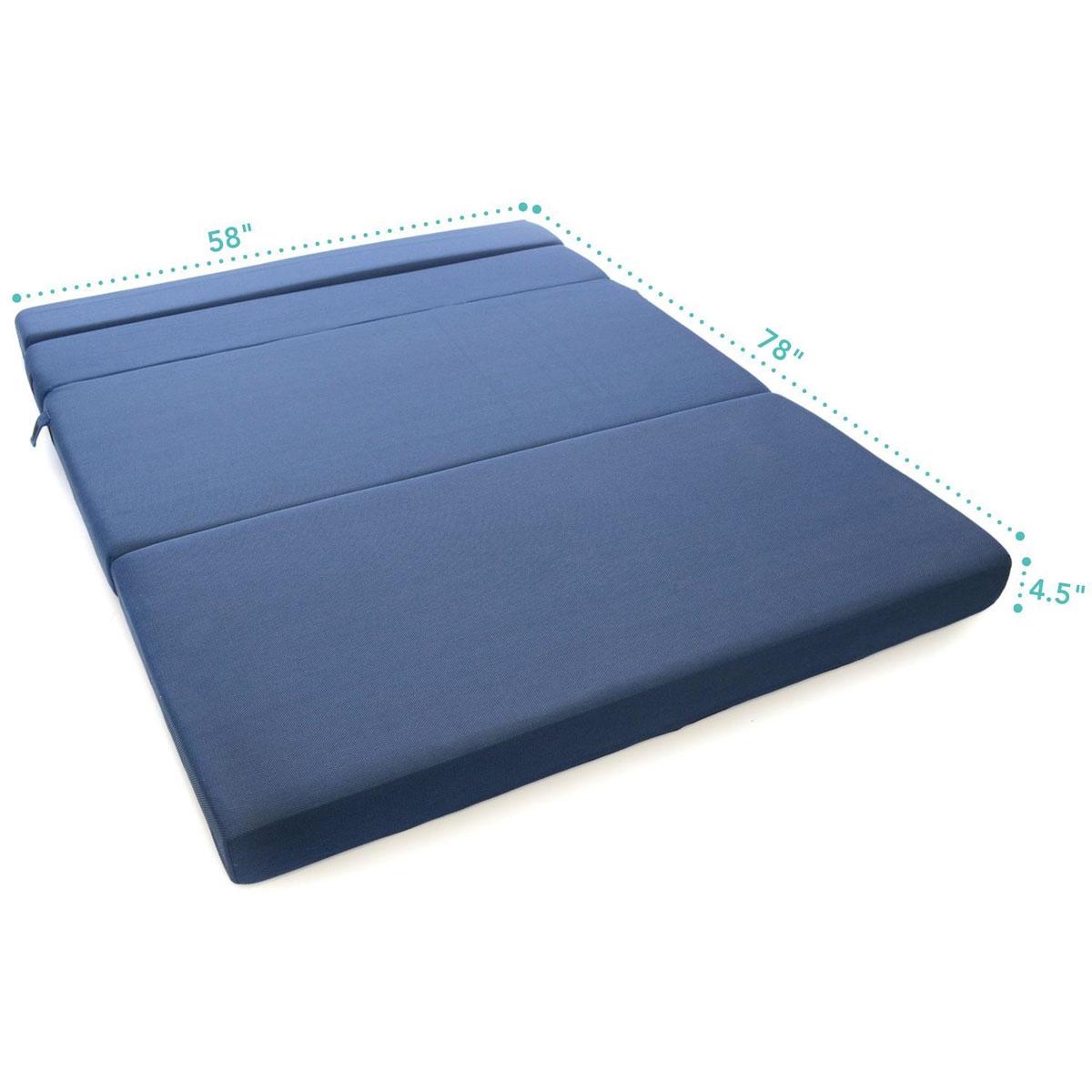 ... tri-fold foam folding mattress u0026 sofa bed ... KNAXFFT