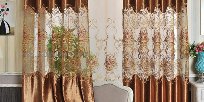 2017 2.8m width velvet curtains water dissolving lace curtains hollow  fashion design XZYDHKH