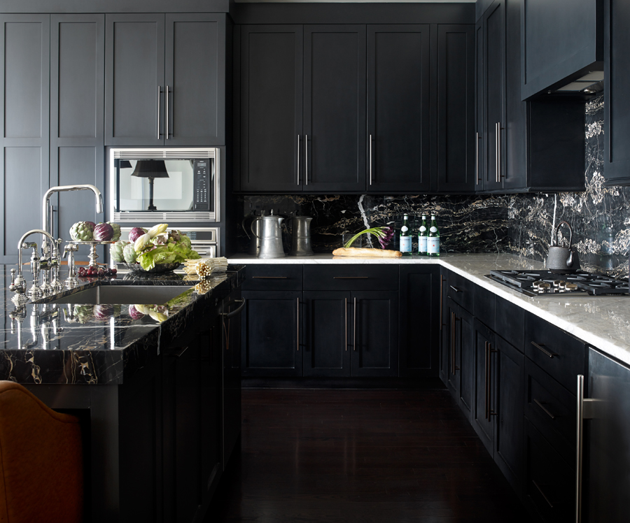 30 best black kitchen cabinets - kitchen design ideas with black cupboards UBTNZXL