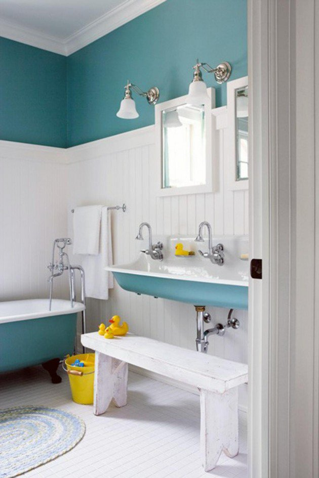 30 colorful and fun kids bathroom ideas ZQNIUXJ