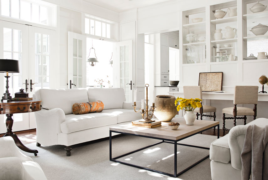 30 white living room decor - ideas for white living room decorating DQRQFWN