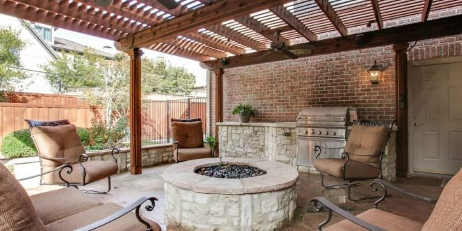 4 tags transitional porch with covered patio, gate, fire pit, raised beds, YNIHUEE
