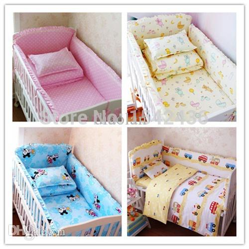 5 baby crib bedding set cot bedding sets baby bed set bedding bumpers CSJGHTV
