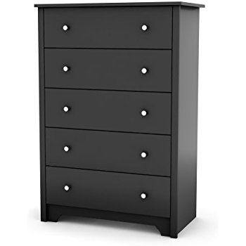 5 drawer dresser south shore vito collection 5-drawer chest, black FLHPCNH