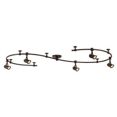 5-light antique bronze retro pinhole flexible track lighting kit OOVUQAY