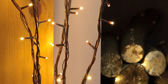 5 x 87cm decorative twig lights with 50 warm white leds by festive SYBRMWB