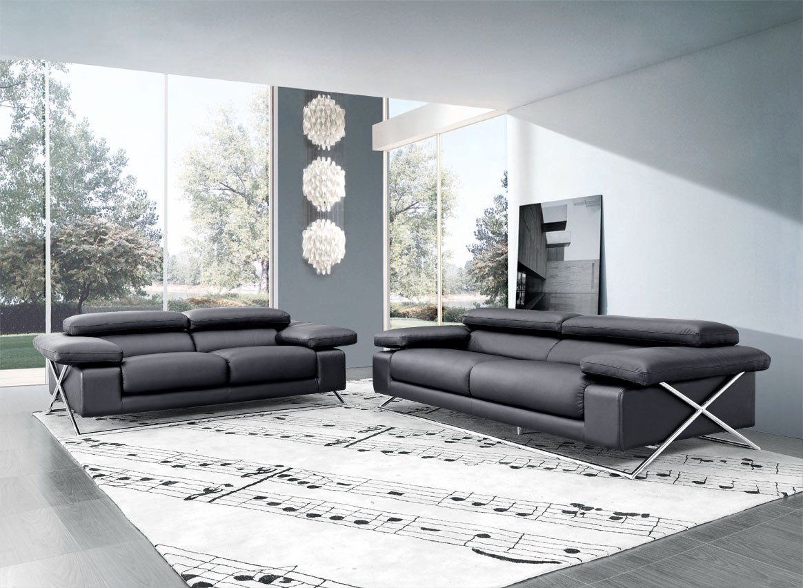 513 modern italian leather sofa set DVAXFNB