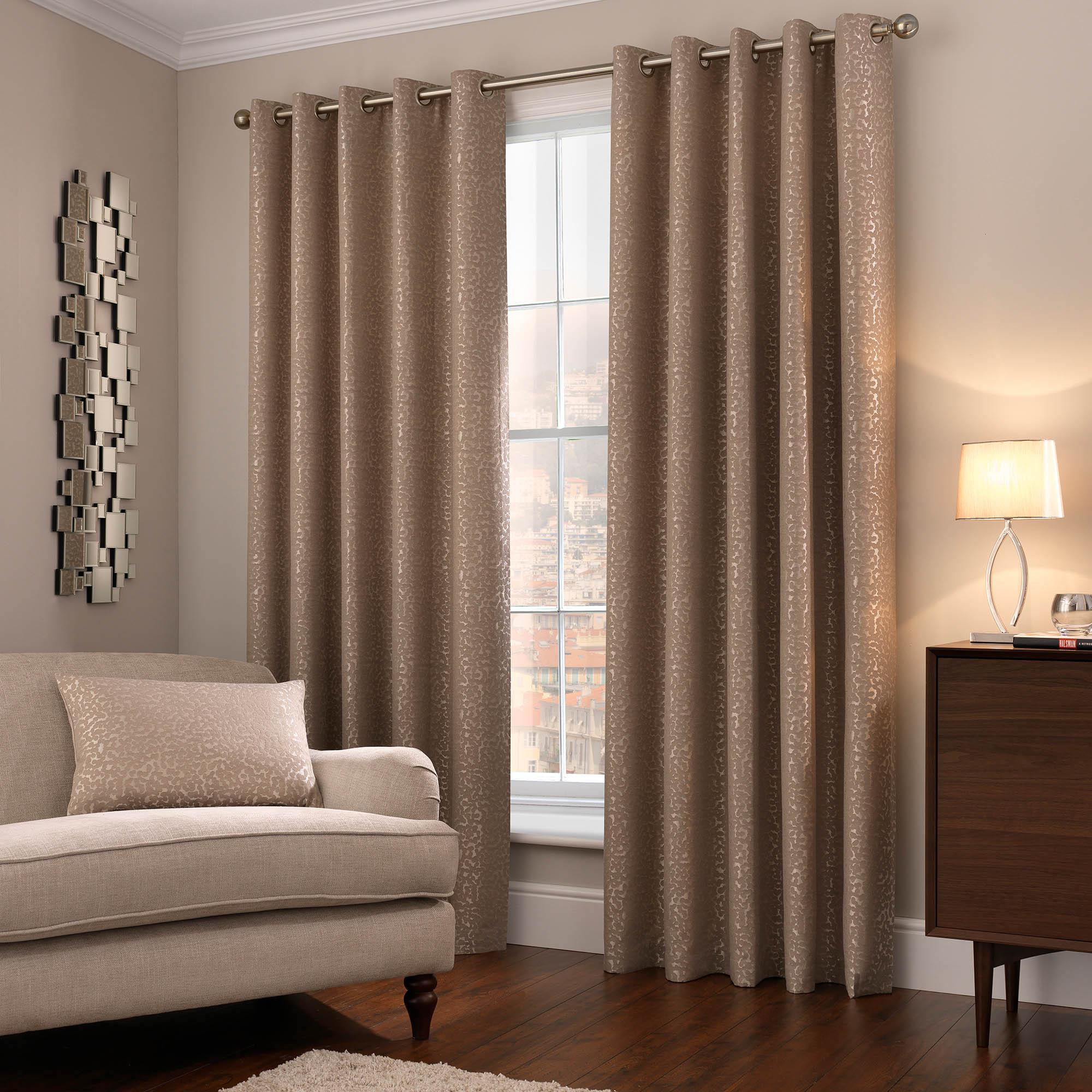 5a fifth avenue madison champagne eyelet curtains USCWKBM