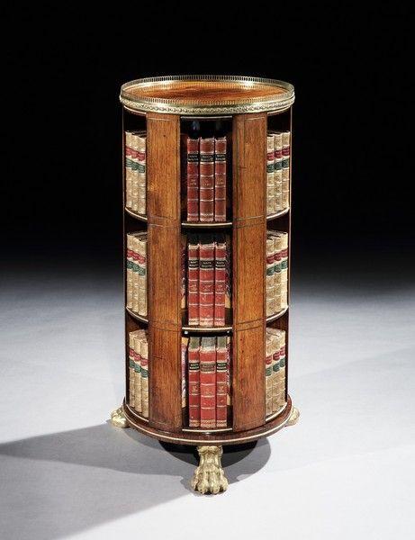 a regency brass mounted rosewood revolving bookcase (4415731) OBDTOVJ