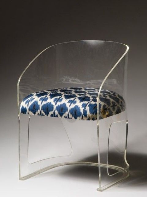 acrylic furniture adorable acrylic chair with a patterned upholstered seat SIZACNK