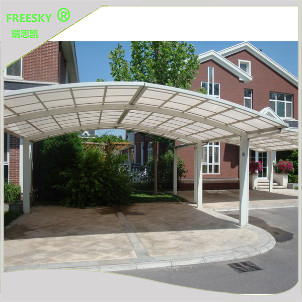 aluminum carport parking shed metal car canopy with polycarbonate arched  roof - VDOJPZY