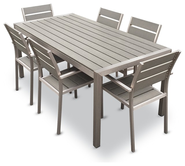 aluminum patio furniture mangohome - habana 7-piece outdoor dining set - outdoor dining sets VLOKVDB