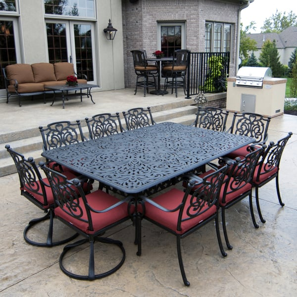 aluminum patio furniture st. augustine - dining by hanamint GSLDLRA
