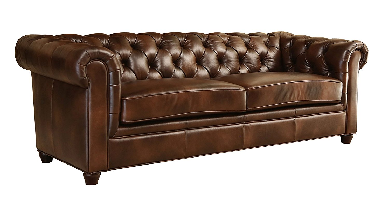 amazon.com: abbyson foyer premium italian leather sofa: kitchen u0026 dining ESRLYWL