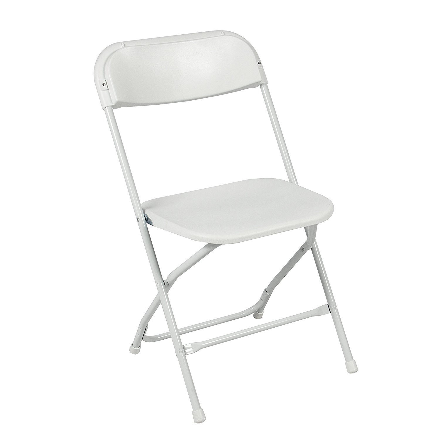 amazon.com: best choice products (5) commercial white plastic folding chairs  stackable wedding VVCJZRR