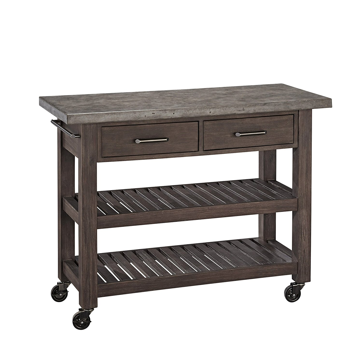 amazon.com - home styles concrete chic kitchen cart - kitchen islands u0026 UKCDHKR