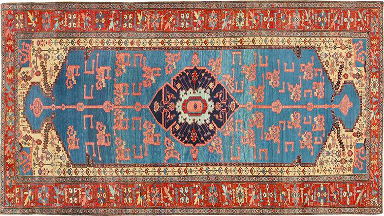 antique bakshaish persian oriental rug WVVNXYQ