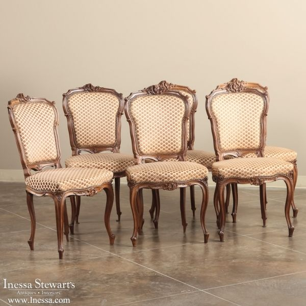 antique dining chairs antique dining room furniture | dining chairs | set  of 6 louis MNOZRPR - Choosing Antique Dining Chairs For Your House – Goodworksfurniture