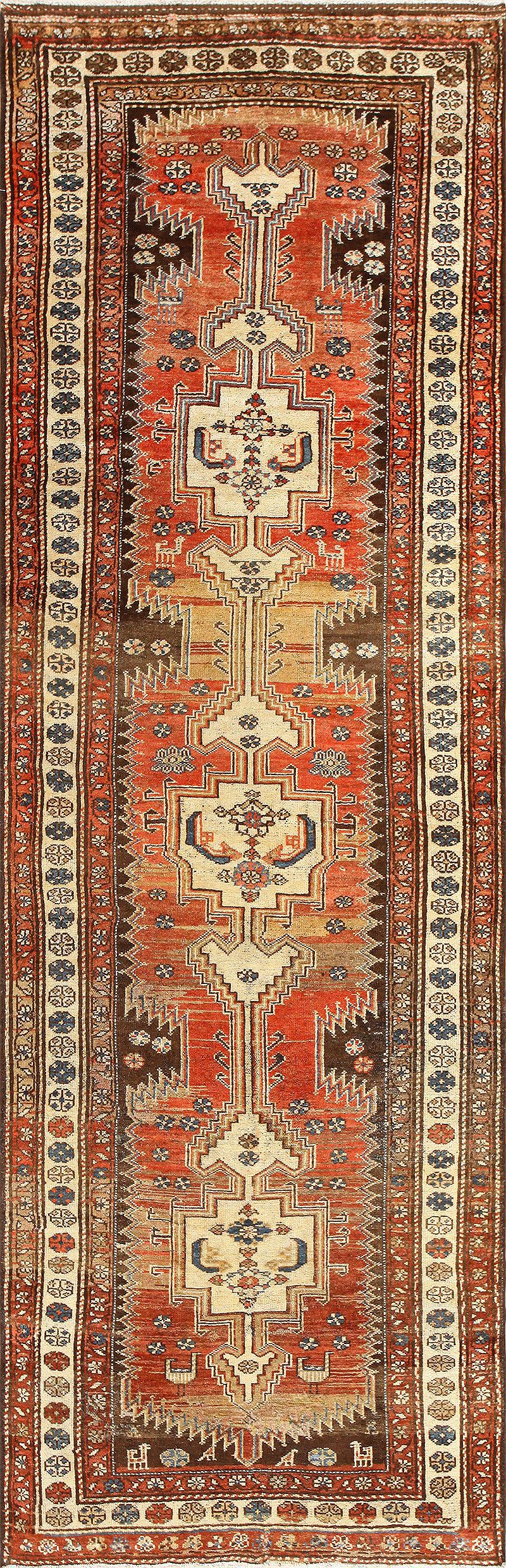 antique persian tribal kurdish runner rug 50263 nazmiyal DDHELNI