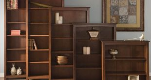 arch top espresso shaker wood bookcases GXMYNYX