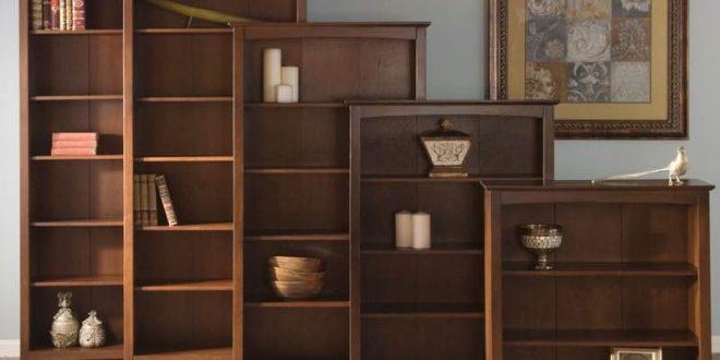 arch top espresso shaker wood bookcases GXMYNYX