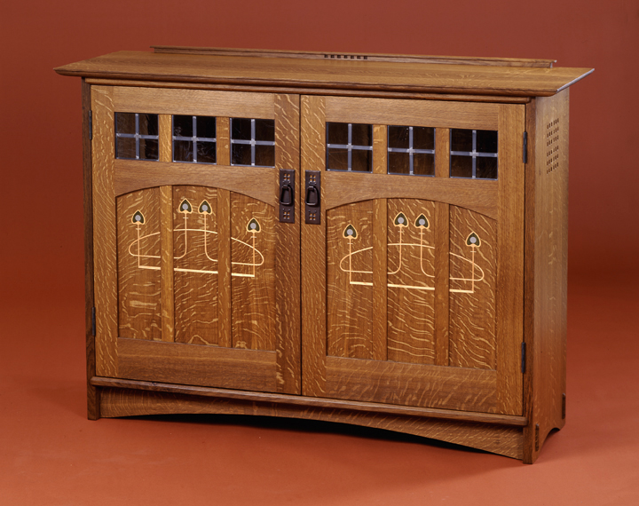 arts and crafts furniture inlaid furniture. ADCALOM