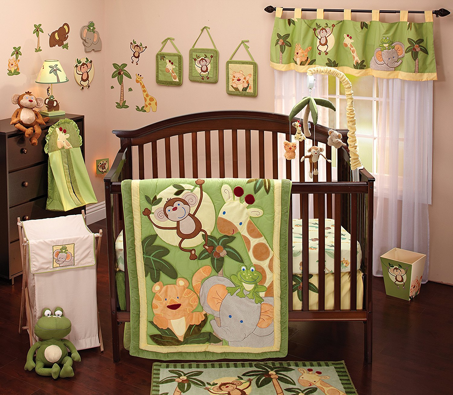 baby bedding amazon.com : nojo jungle babies 8 piece bedding set : crib bedding FBDPGRO