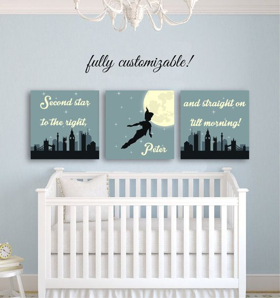 baby room decor nursery wall art peter pan nursery décor nursery decor boy girl peter WHMBFKV