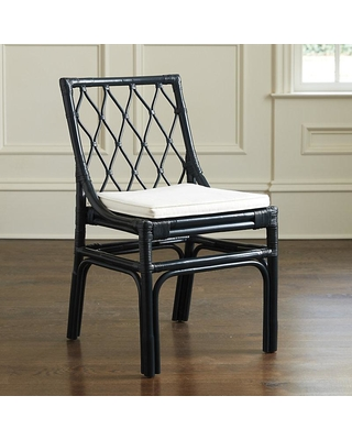 ballard designs vivian rattan dining chairs - set of 2 navy PYTIRKO