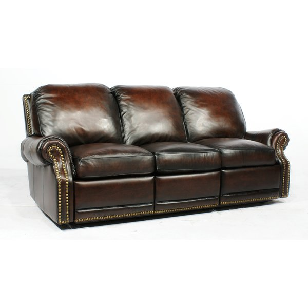 barcalounger premier ll leather reclining sofa u0026 reviews | wayfair GFYLLLM
