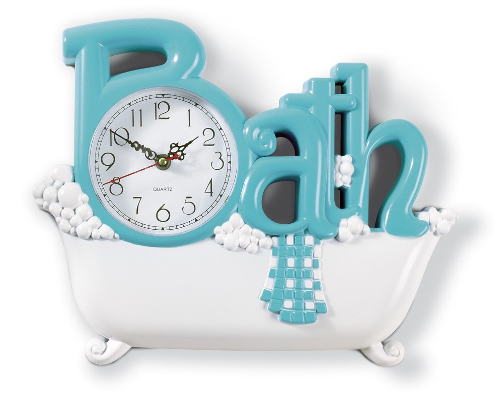 bathroom clocks amazon.com: bathroom wall clock: home u0026 kitchen LFWJRPB