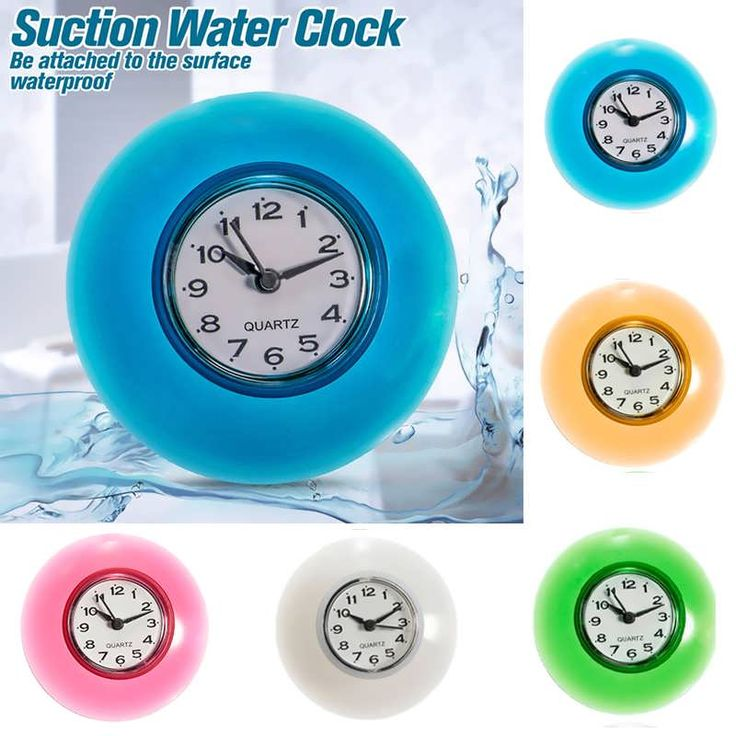 bathroom clocks description: bathroom waterproof wall clock resistant timer suction cup  this bathroom HDAAHPO