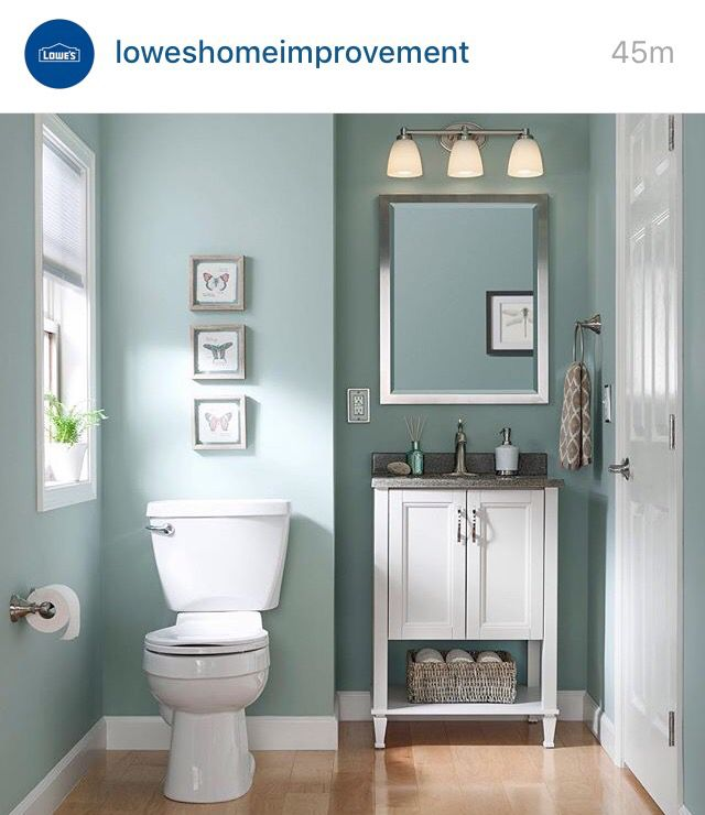 bathroom colors sherwin williams worn turquoise - nice color for a guest bathroom YAXMSEP