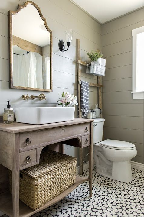 bathroom inspiration farmhouse meets modern in this bathroom renovation from jenna sue. SBDRDZG