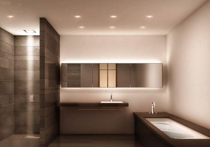 bathroom lighting thereu0027s a lot going on in new bathrooms these days. from vanity RYCLBTG