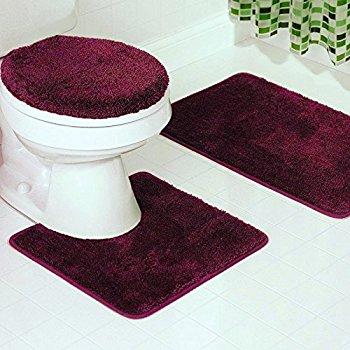 bathroom mat gorgeoushomelinen *various colors* 3 pc bathroom set bath mat, contour, and URGPAKV