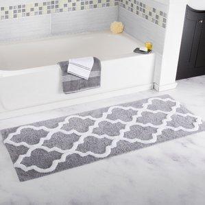 bathroom mats long trellis bath rug PJLJANF