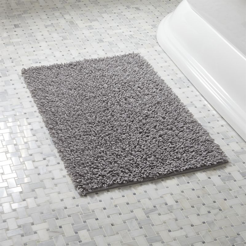 bathroom mats loop light grey bath rug | crate and barrel WVDVKLD