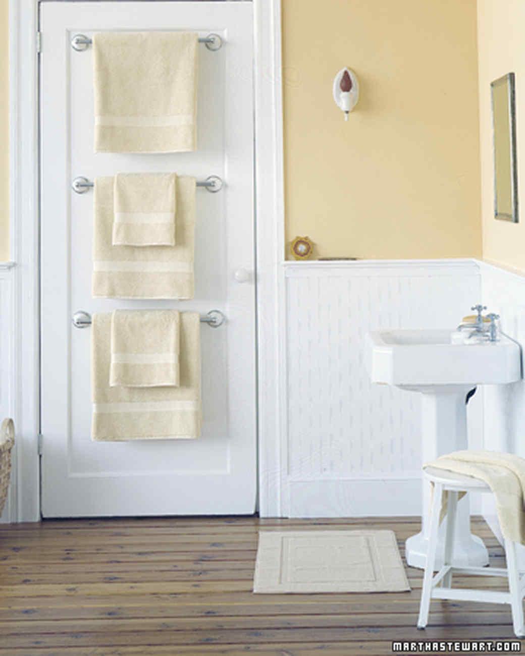 bathroom organizers towel bar trio VFZFRSX