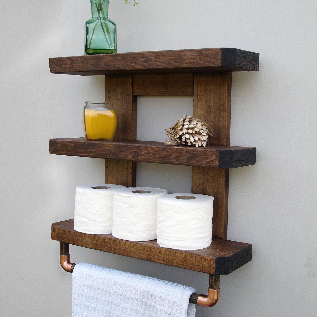 Declutter with Bathroom Shelves - goodworksfurniture