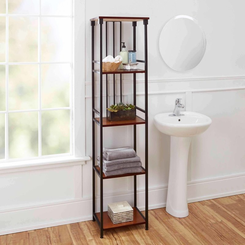 Declutter With Bathroom Shelves Goodworksfurniture