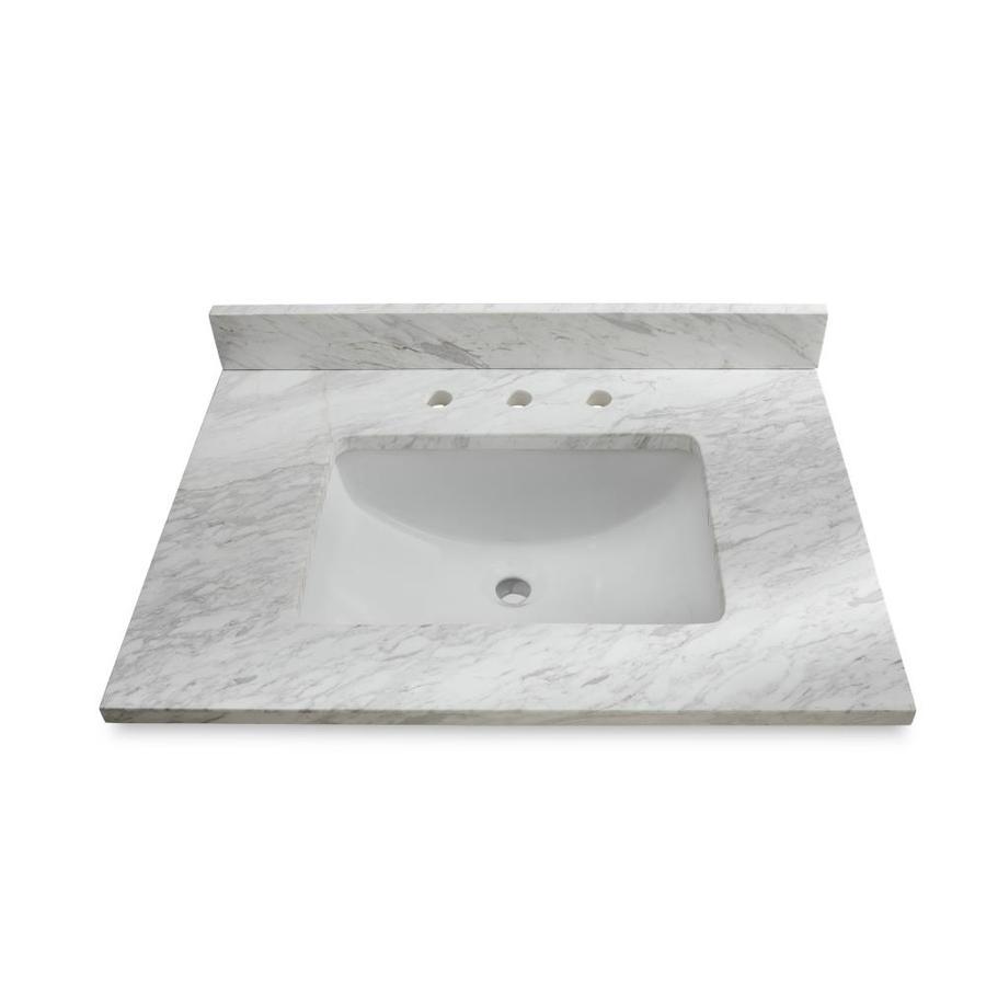 bathroom vanity tops ariston natural marble undermount bathroom vanity top (common: 31-in x 22- FQLQZSX
