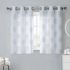 bathroom window curtains image of coral reef 38-inch bath window curtain tier pair in grey YWSDINS