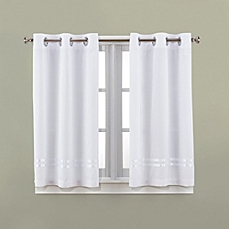 bathroom window curtains image of hookless® escape 45-inch bath window curtain panels GRNPNAC
