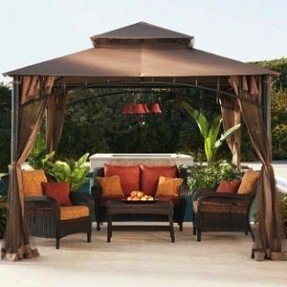beauty outdoor patio gazebo interior design XKOOFZA